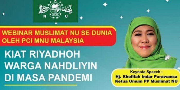 Hadapi Pandemi, Muslimat NU Malaysia Ajak Umat Lakukan Riyadlah