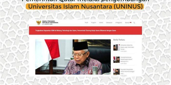 Kerjasama Bilateral Dengan Pemerintah Qatar Melalui Pengembangan Universitas Islam Nusantara (UNINUS)
