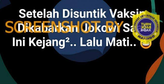SALAH Jokowi Kejang dan Meninggal Dunia setelah Disuntik ...