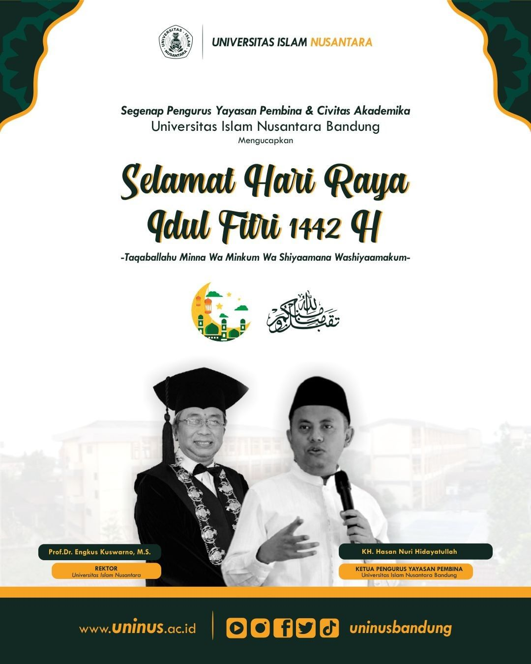 Segenap Pengurus Yayasan Pembina & Civitas Akademika Universitas Islam Nusantara…